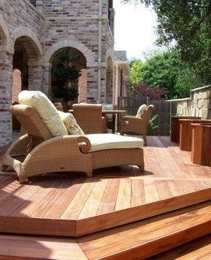 Grahadesign.com wood deck designs rattan furnitures