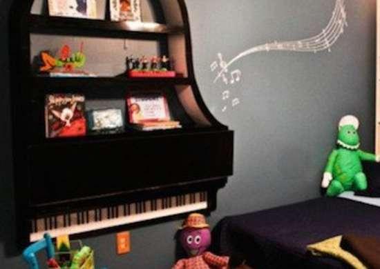 Grand Piano Shelving