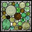 Stained Glass Wine Bottle Panel