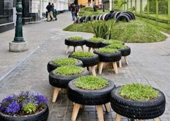 Tire planters diy projects reinventing the wheel bob for Uses for old tyres
