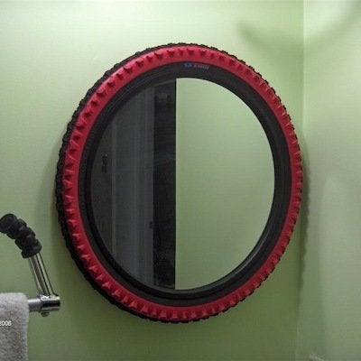 bike tire mirror diy projects reinventing the wheel