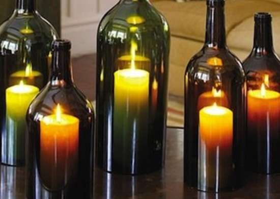 Wine Bottle Hurricane Lamps