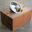 Wooden Crate Dog Bowl