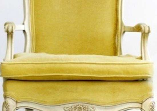 Yellow French Provincial Chair