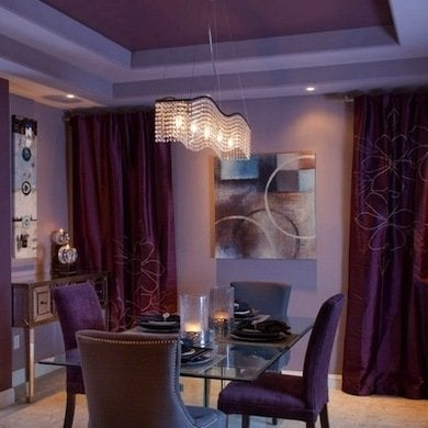 Purple ceiling room decorating ideas 8 decor rules you Rules for painting ceilings