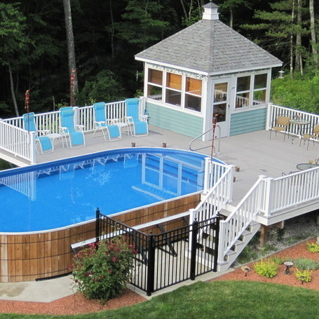 5aa342acde48bfdfb6fa025eb7828521 an aboveground pool - Above Ground Pool Deck Off House