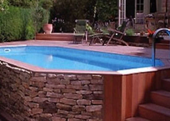 Stone Veneer Pool Aboveground Pools 10 Reason To