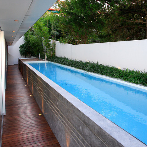 A Lap Pool Is An Excellent Tool For Staying Fit, But As This Design  Demonstrates, It Can Also Be A Stunning Water Feature. This Custom Job Is  Made From ...