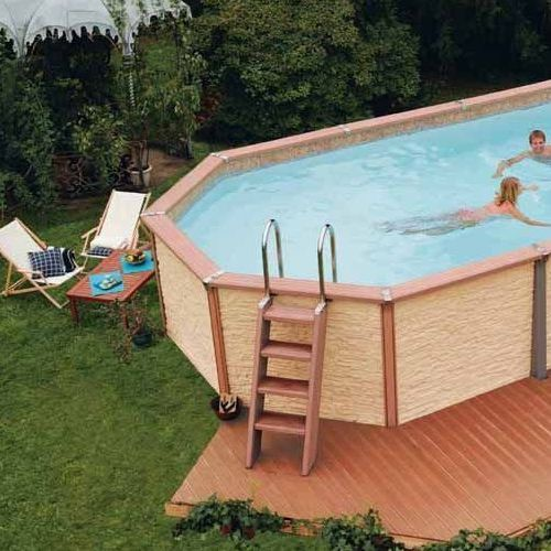 surroundabove ground pool with wood surround 55e1f4fca261f39d5f45bac510f30003 - Diy Above Ground Pool Slide