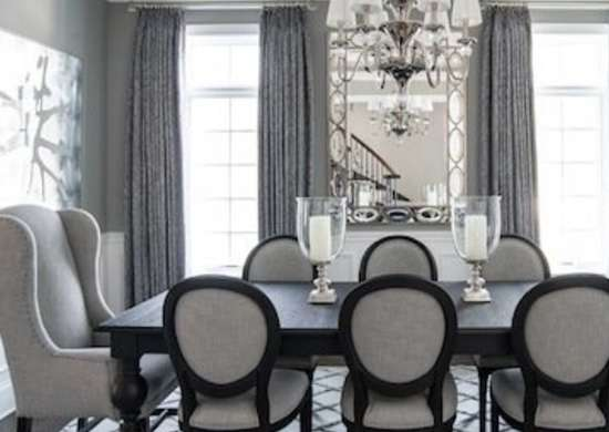 Dining room colors 8 inviting colors bob vila for Dining room ideas grey