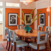 Orange Dining Room