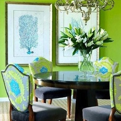 Green dining room dining room colors 8 inviting colors for Green dining room set