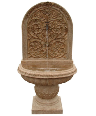 ... stucco design of the Bong Manufacturing Bella Flora Outdoor Fountain  will be the focal point in your yard or garden. Available at The Home Depot,  $199