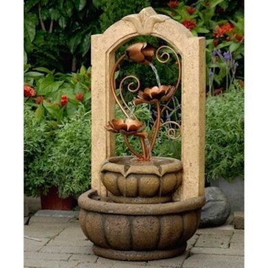 Brass_metal_flowers_outdoor_fountains_overstock