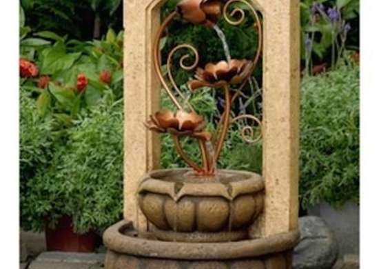 Brass metal flowers outdoor fountains overstock