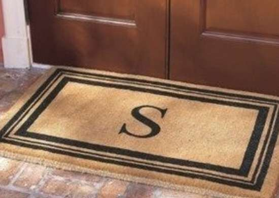 http://www.grandinroad.com/monogrammed-coco-door-mat/gifts-celebrations/personalized-gifts/15505?isCrossSell=true&strategy=6
