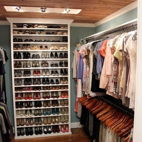 Ikea Bookcase Turned Shoe Organizer Source · Bookshelf Shoe Storage Closet  Ideas 11 Design Inspirations