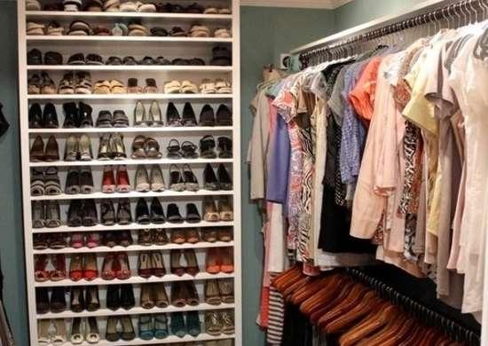 Bookshelf Shoe Storage